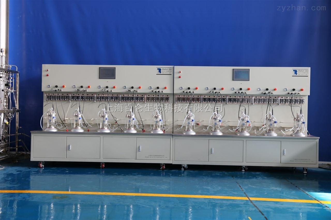 1L10联机械搅拌离位灭菌玻璃发酵罐
