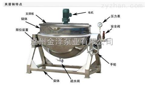 不锈钢电加热可倾式夹层锅