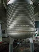 二手16立方不锈钢内加外盘管不锈钢反应釜18吨