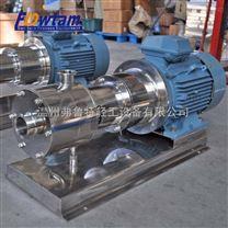 高剪切不锈钢乳化泵 卫生级均质三级乳化泵 管线式高剪切乳化机