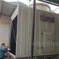 鄭州100噸方形橫流冷卻塔安裝