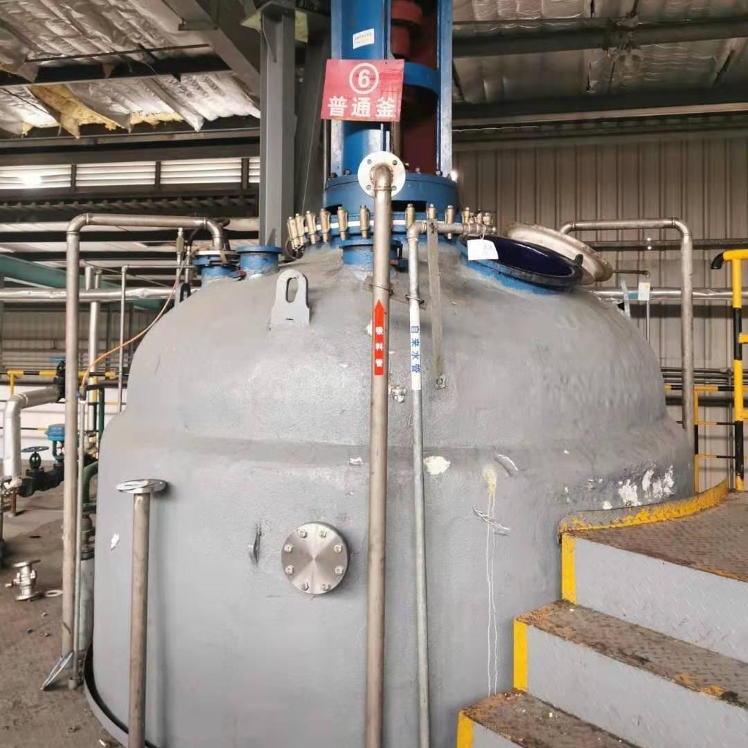 二手10吨闭式搪瓷反应釜