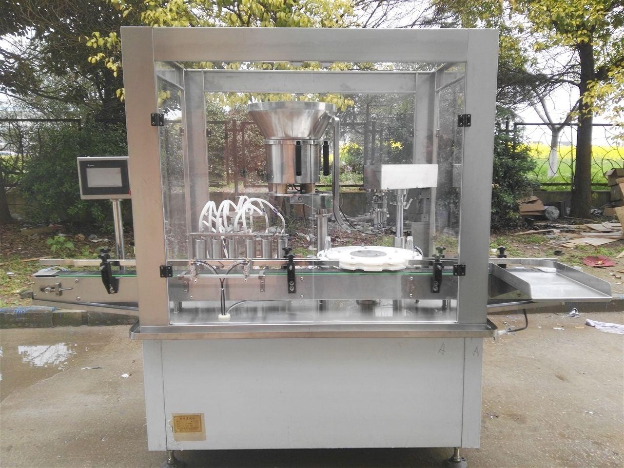 海門遠楊制藥機械:6頭灌裝軋蓋機