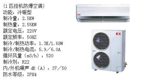 室外机主要由隔爆型电气控制箱,压缩机,热交换器,四通电磁阀,压力开关图片